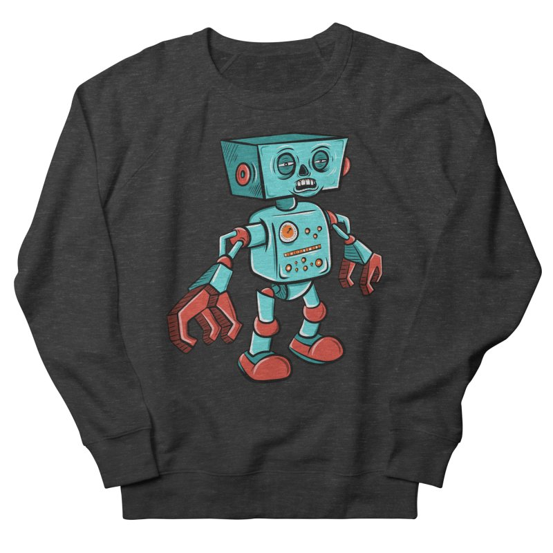 62d9d9 - Astro the Android Women's Sweatshirt by Pat Higgins Illustration