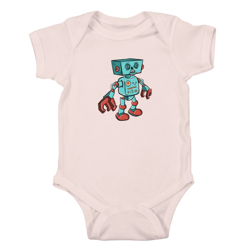 62d9d9 - Astro the Android Kids Baby Bodysuit by Pat Higgins Illustration