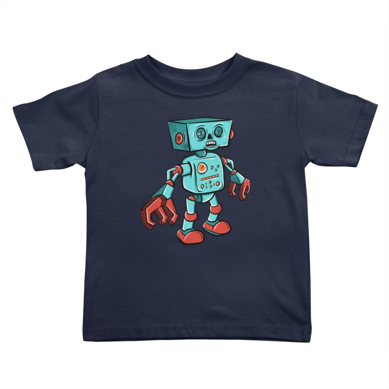 62d9d9 - Astro the Android Kids Toddler T-Shirt by Pat Higgins Illustration