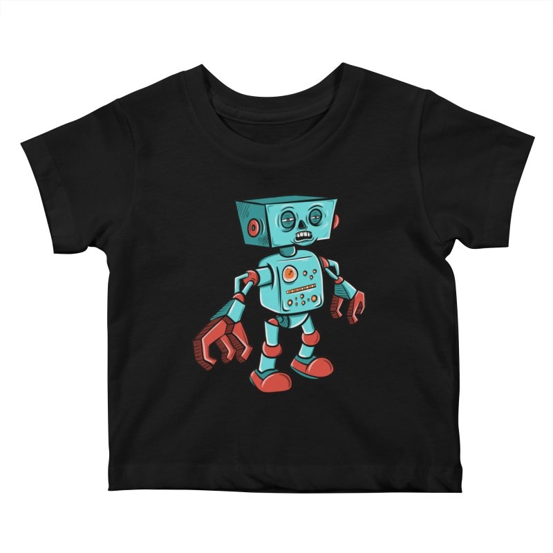 62d9d9 - Astro the Android Kids Baby T-Shirt by Pat Higgins Illustration