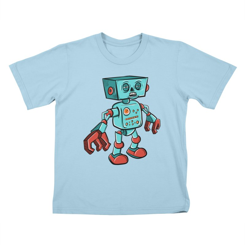 62d9d9 - Astro the Android Kids T-Shirt by Pat Higgins Illustration