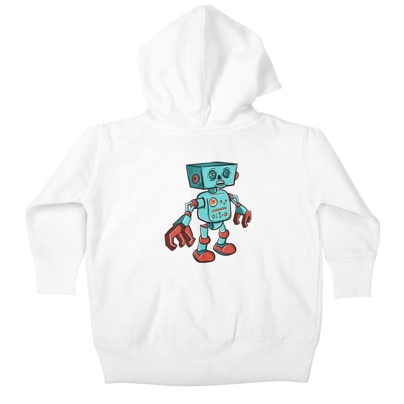 62d9d9 - Astro the Android Kids Baby Zip-Up Hoody by Pat Higgins Illustration