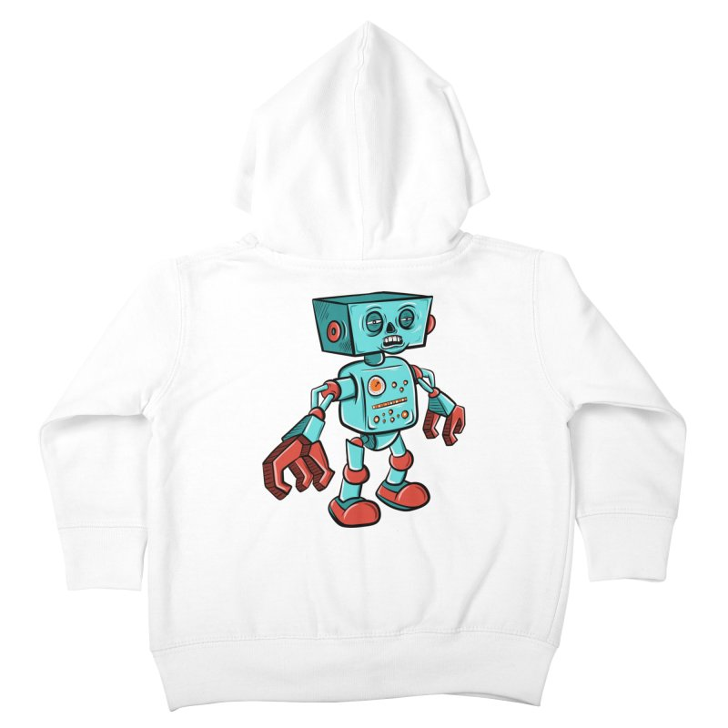 62d9d9 - Astro the Android Kids Toddler Zip-Up Hoody by Pat Higgins Illustration