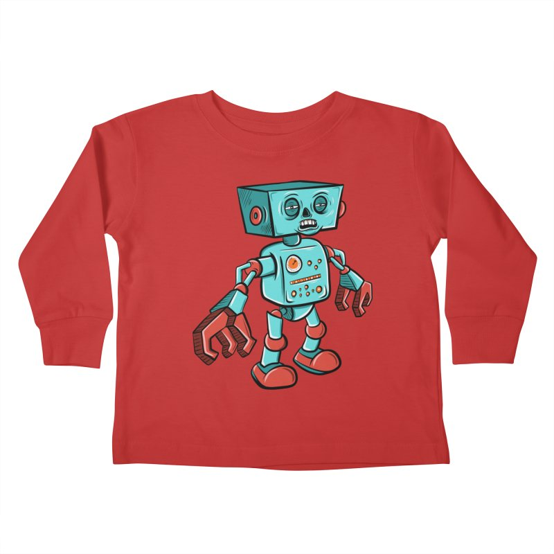62d9d9 - Astro the Android Kids Toddler Longsleeve T-Shirt by Pat Higgins Illustration