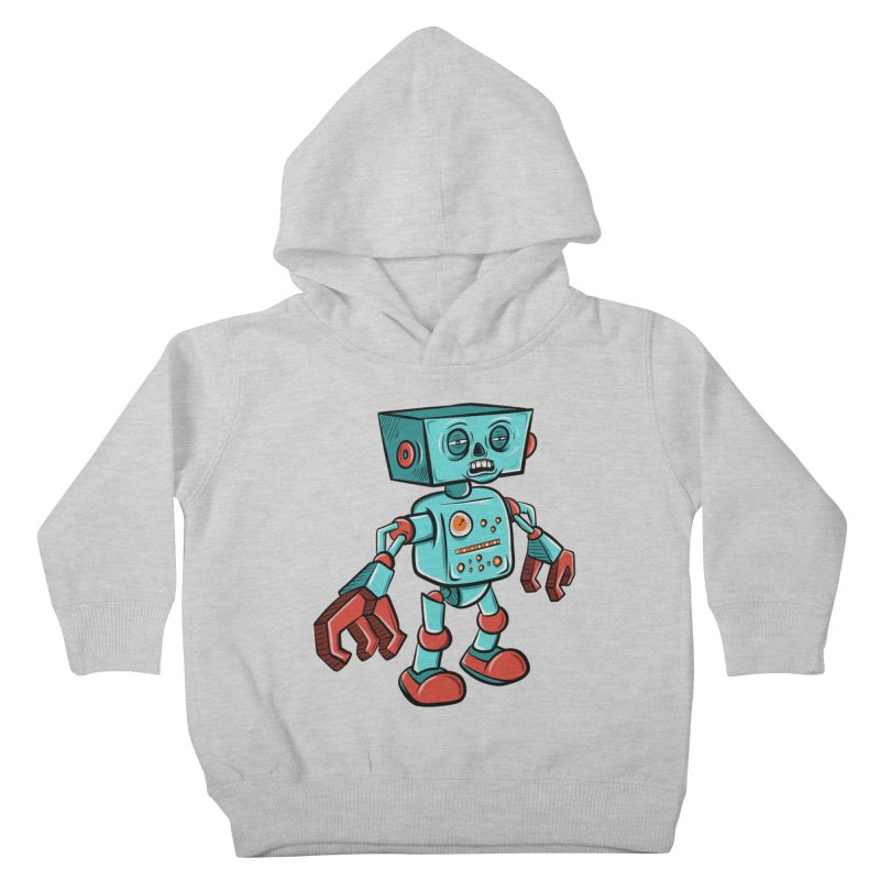 62d9d9 - Astro the Android Kids Toddler Pullover Hoody by Pat Higgins Illustration