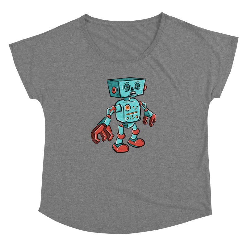 62d9d9 - Astro the Android Women's Dolman by Pat Higgins Illustration