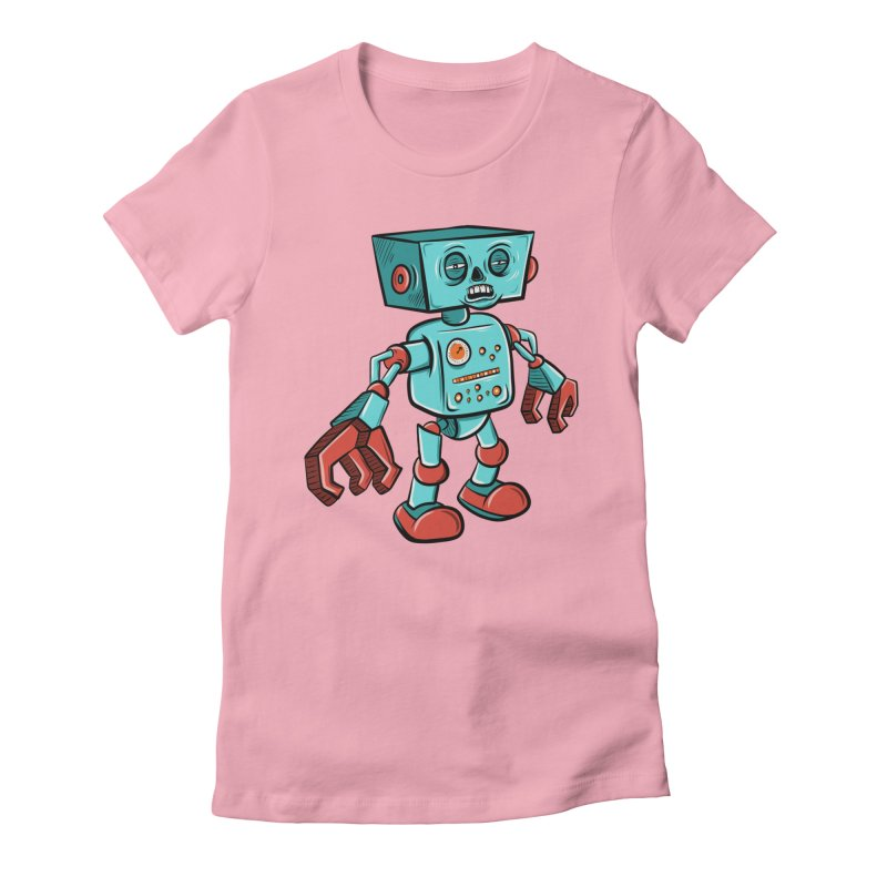 62d9d9 - Astro the Android Women's Fitted T-Shirt by Pat Higgins Illustration