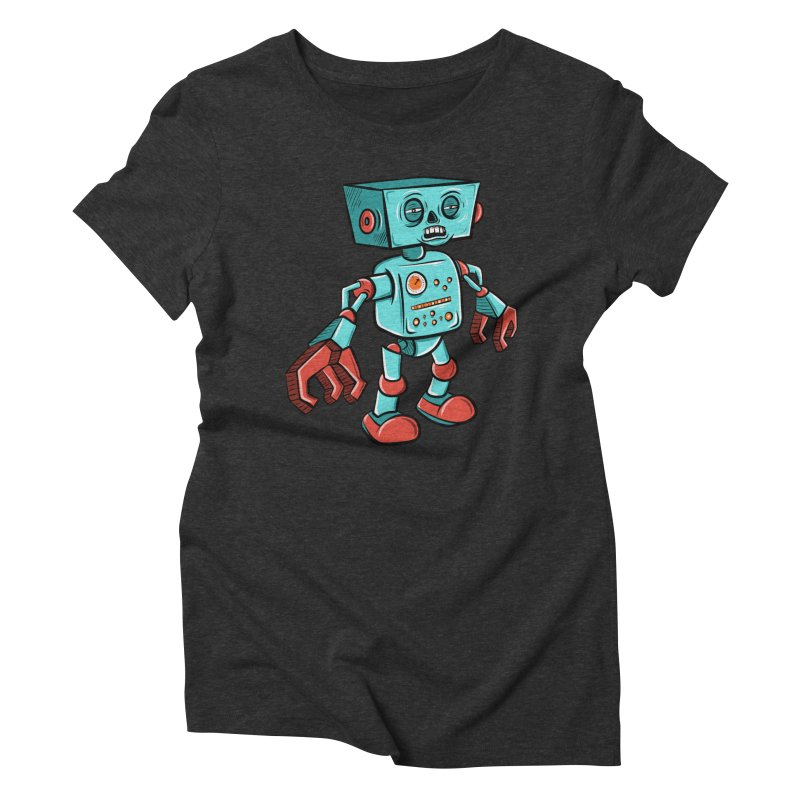 62d9d9 - Astro the Android Women's Triblend T-Shirt by Pat Higgins Illustration