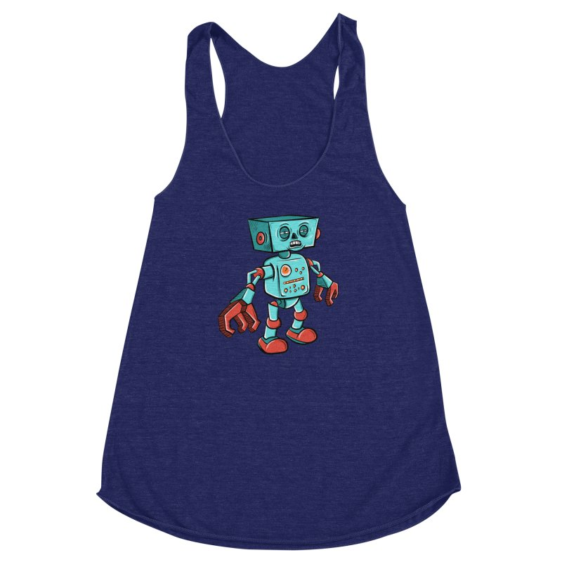 62d9d9 - Astro the Android Women's Racerback Triblend Tank by Pat Higgins Illustration