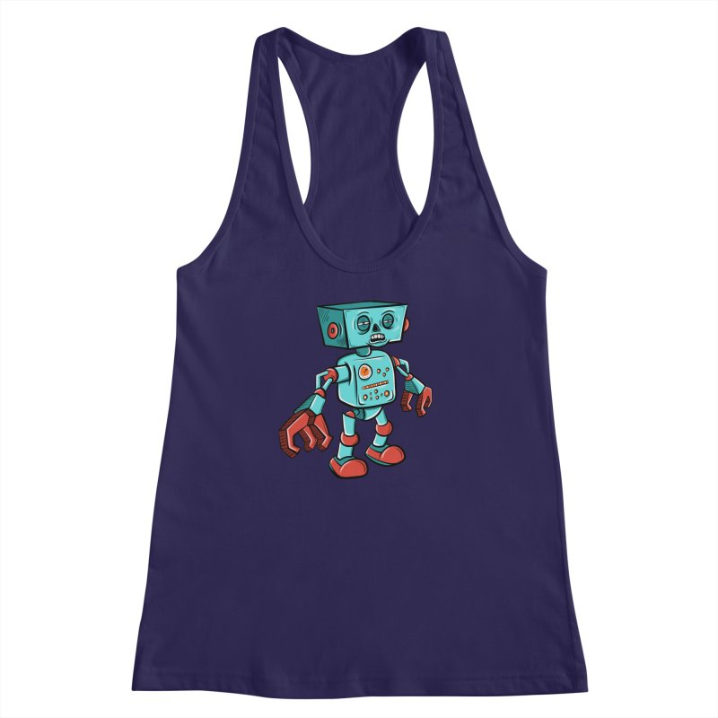 62d9d9 - Astro the Android Women's Racerback Tank by Pat Higgins Illustration
