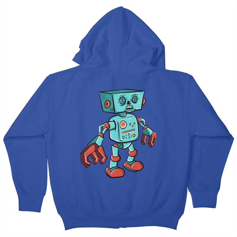 62d9d9 - Astro the Android Kids Zip-Up Hoody by Pat Higgins Illustration