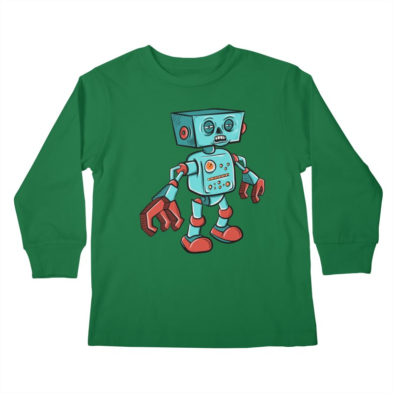 62d9d9 - Astro the Android Kids Longsleeve T-Shirt by Pat Higgins Illustration