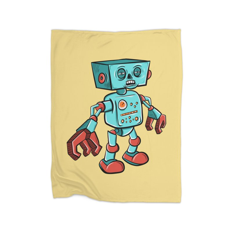62d9d9 - Astro the Android Home Blanket by Pat Higgins Illustration