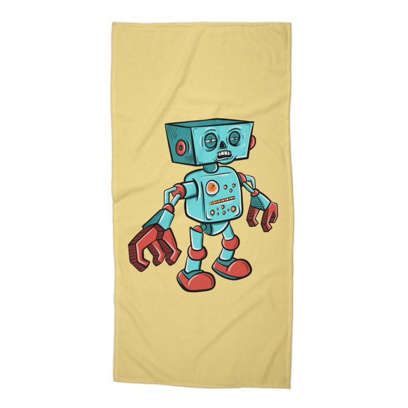 62d9d9 - Astro the Android Accessories Beach Towel by Pat Higgins Illustration