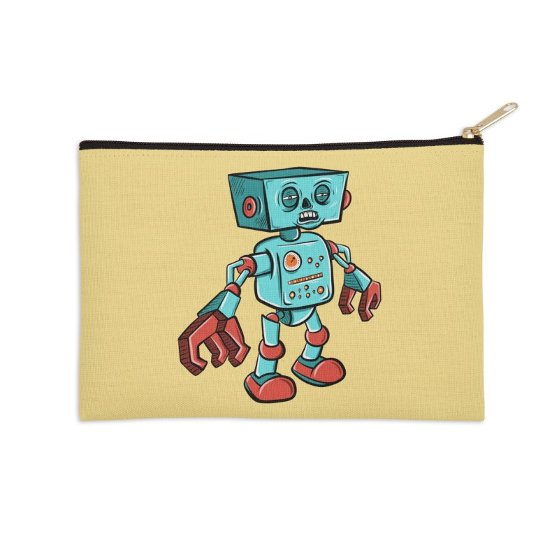 62d9d9 - Astro the Android Accessories Zip Pouch by Pat Higgins Illustration