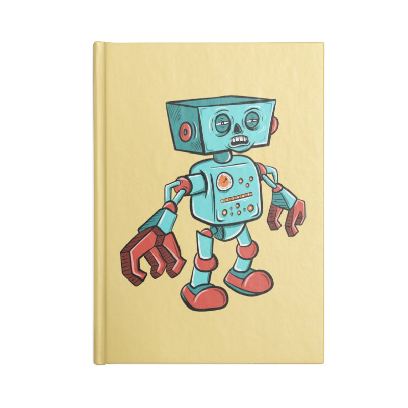 62d9d9 - Astro the Android Accessories Notebook by Pat Higgins Illustration