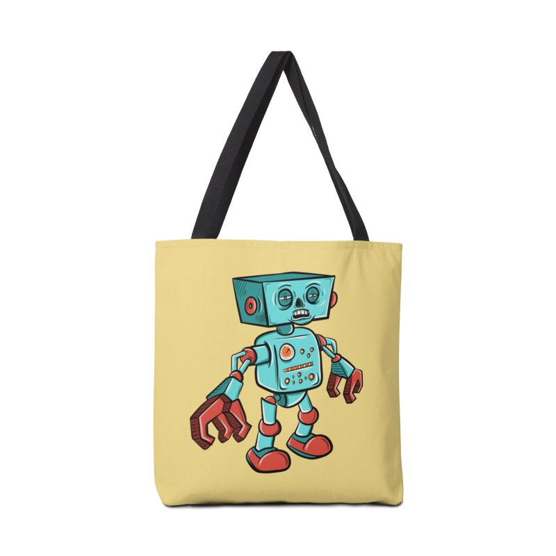 62d9d9 - Astro the Android Accessories Bag by Pat Higgins Illustration