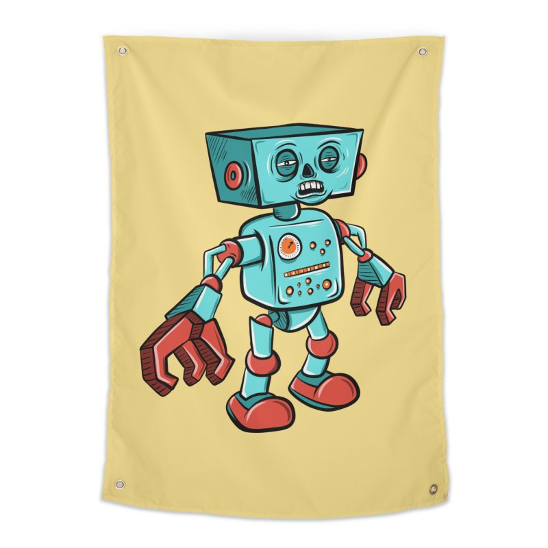 62d9d9 - Astro the Android Home Tapestry by Pat Higgins Illustration
