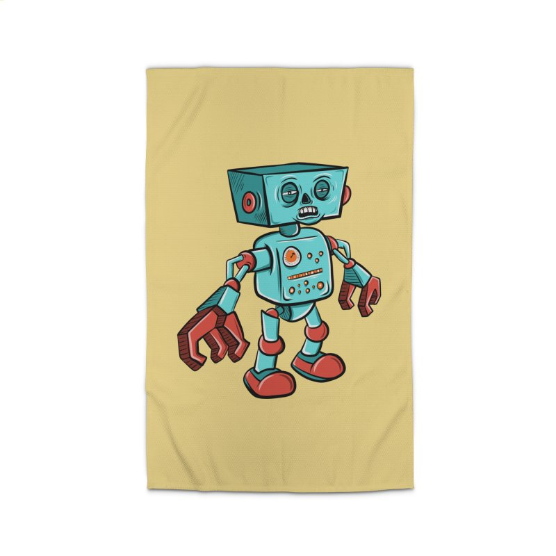 62d9d9 - Astro the Android Home Rug by Pat Higgins Illustration
