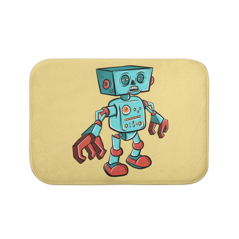 62d9d9 - Astro the Android Home Bath Mat by Pat Higgins Illustration