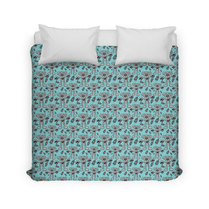 The Angry Android Home Duvet by Pat Higgins Illustration