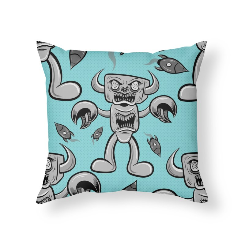 The Angry Android Home Throw Pillow by Pat Higgins