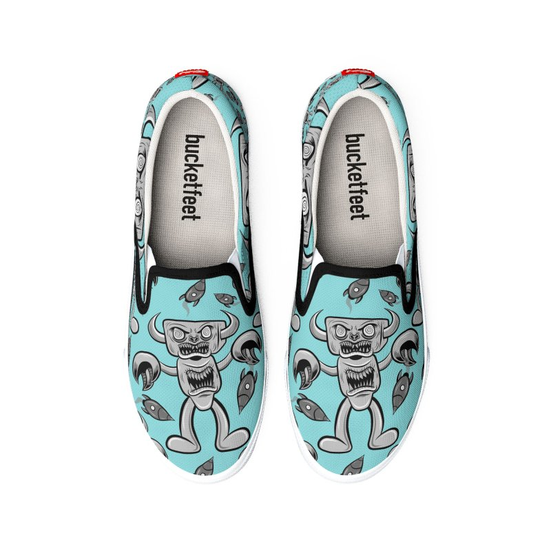 The Angry Android Men's Shoes by Pat Higgins Illustration