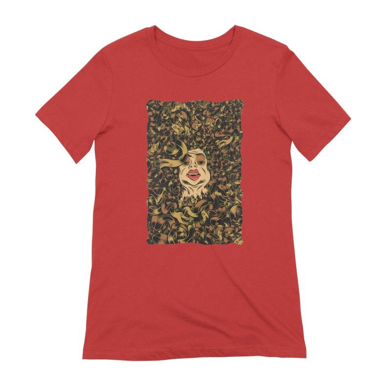 Medusa Women's Extra Soft T-Shirt by Pat Higgins Illustration