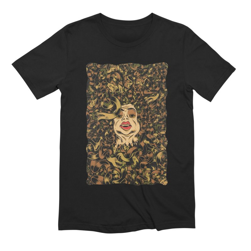 Medusa Men's Extra Soft T-Shirt by Pat Higgins Illustration