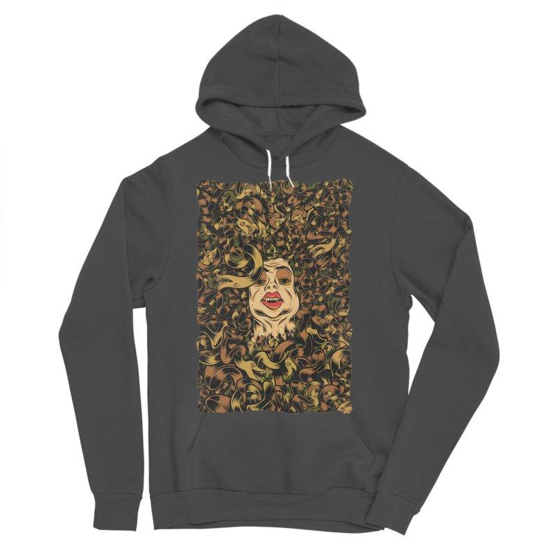 Medusa Men's Sponge Fleece Pullover Hoody by Pat Higgins Illustration