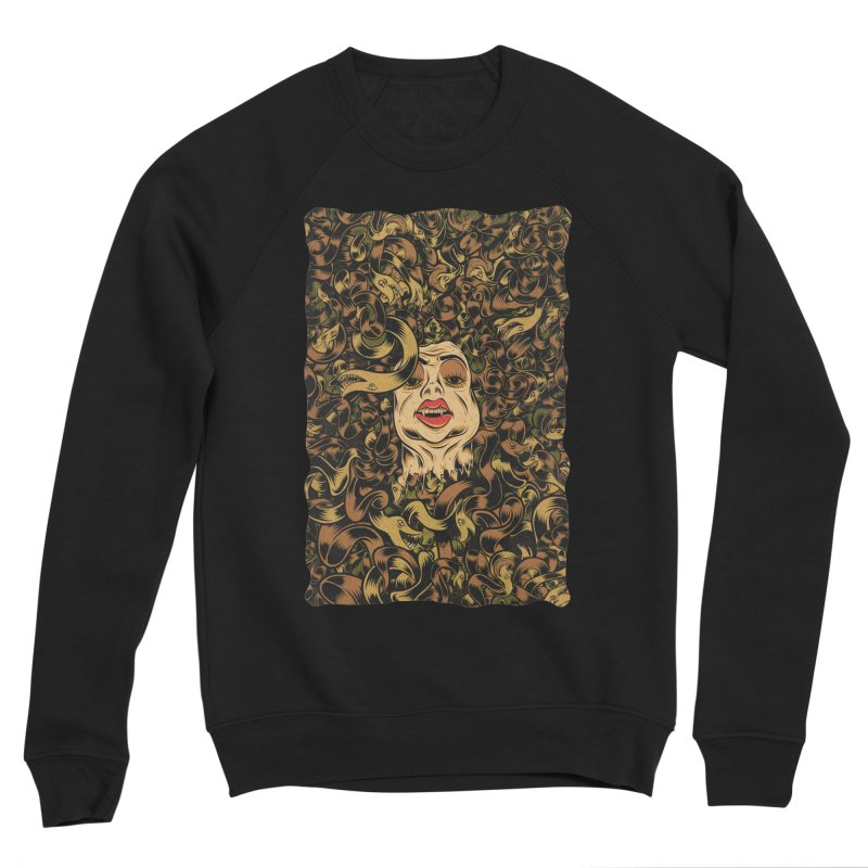 Medusa Men's Sponge Fleece Sweatshirt by Pat Higgins