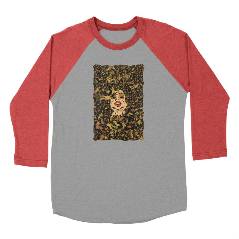 Medusa Men's Baseball Triblend Longsleeve T-Shirt by Pat Higgins