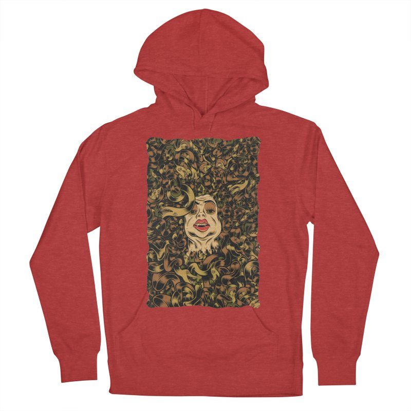 Medusa Men's French Terry Pullover Hoody by Pat Higgins