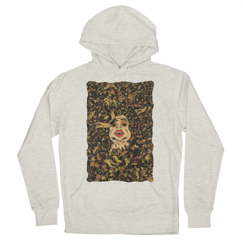 Medusa Men's French Terry Pullover Hoody by Pat Higgins Illustration