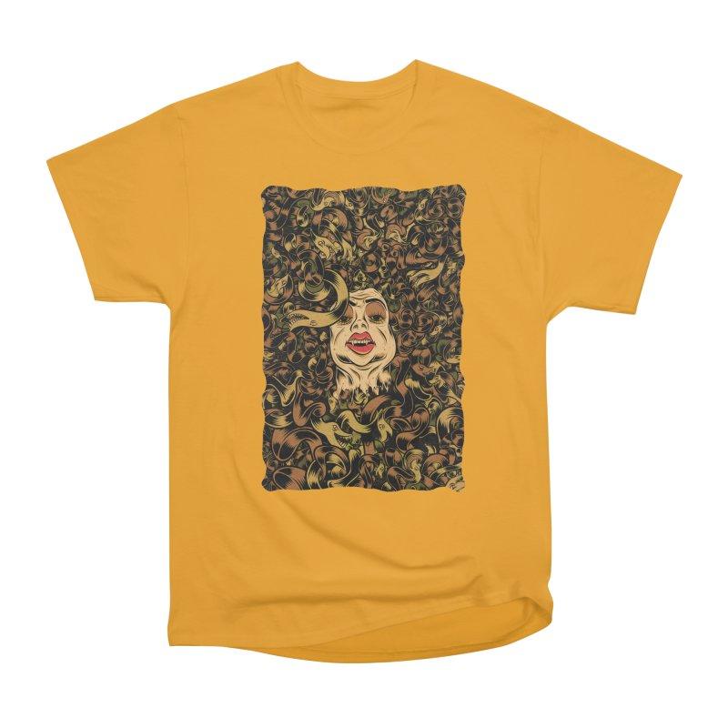 Medusa Men's Heavyweight T-Shirt by Pat Higgins