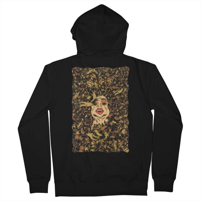 Medusa Men's French Terry Zip-Up Hoody by Pat Higgins