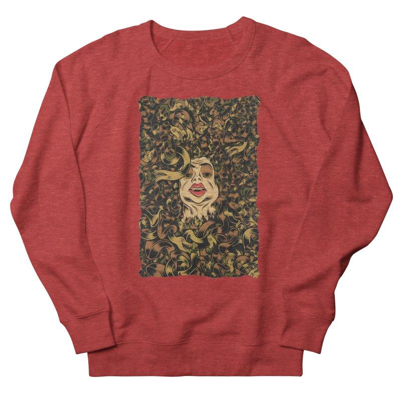 Medusa Women's French Terry Sweatshirt by Pat Higgins