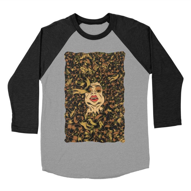 Medusa Women's Baseball Triblend Longsleeve T-Shirt by Pat Higgins