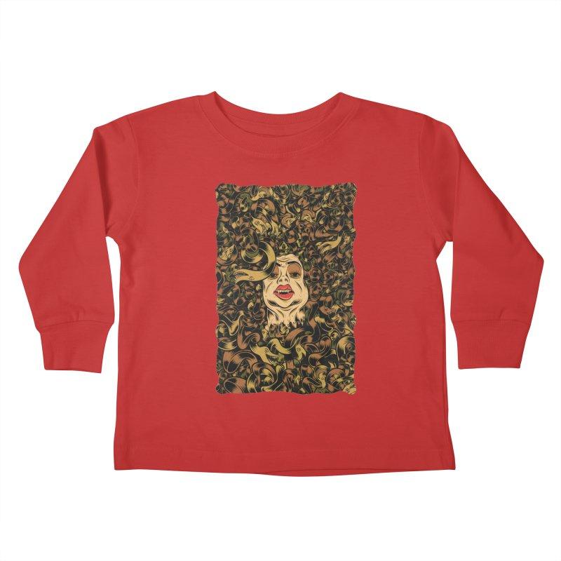 Medusa Kids Toddler Longsleeve T-Shirt by Pat Higgins