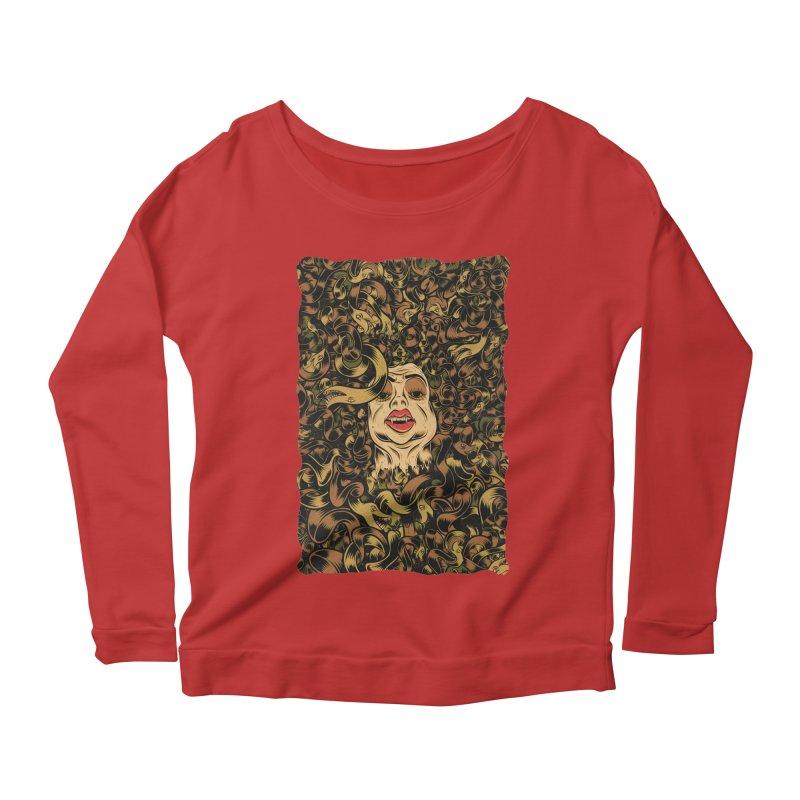 Medusa Women's Scoop Neck Longsleeve T-Shirt by Pat Higgins