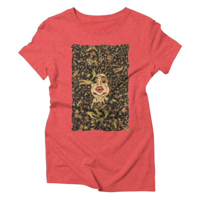Medusa Women's Triblend T-Shirt by Pat Higgins