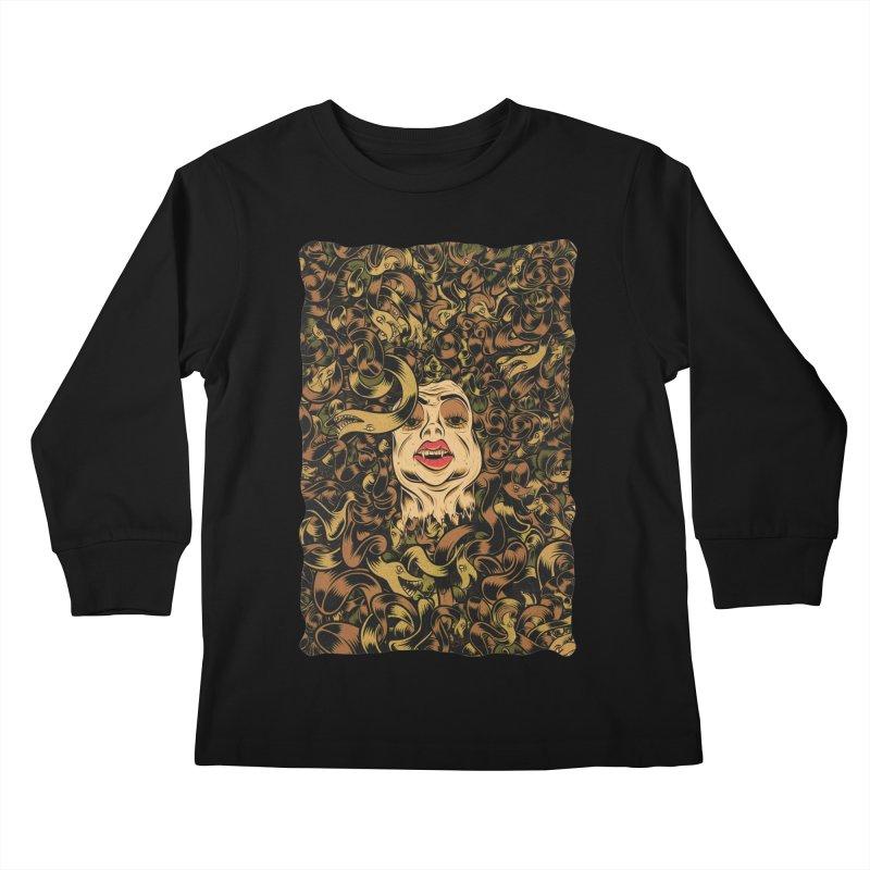 Medusa Kids Longsleeve T-Shirt by Pat Higgins
