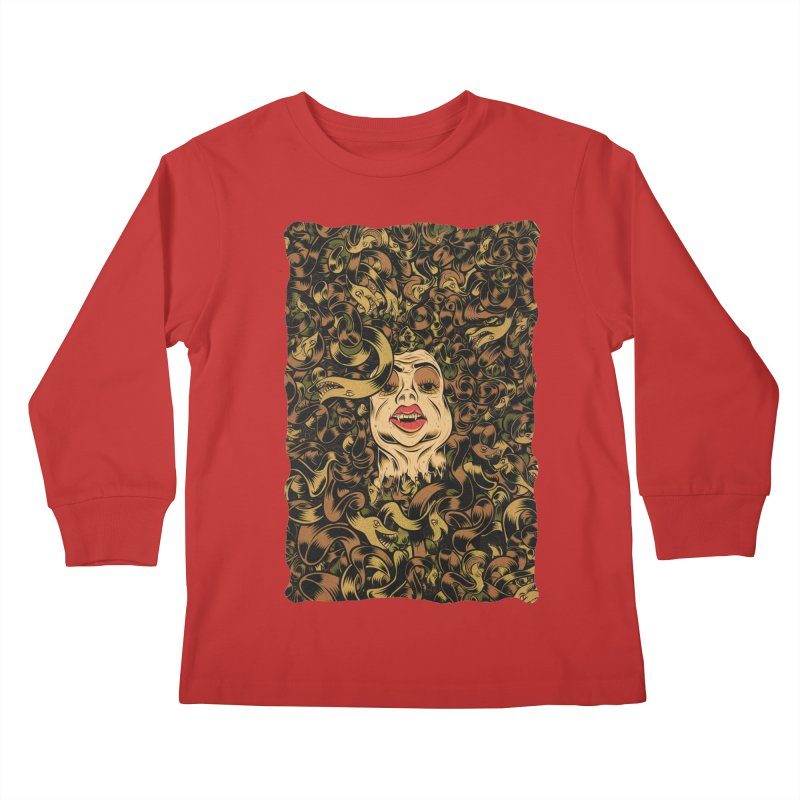 Medusa Kids Longsleeve T-Shirt by Pat Higgins