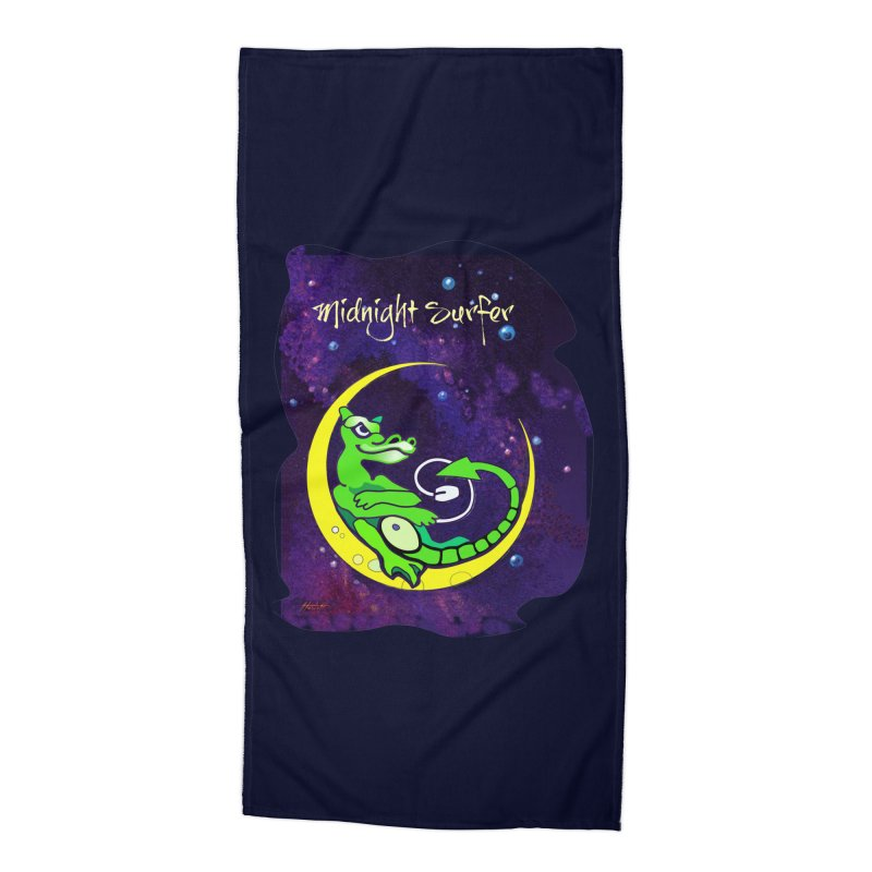 Midnight Surfer Accessories Beach Towel by Patricia Howitt's Artist Shop