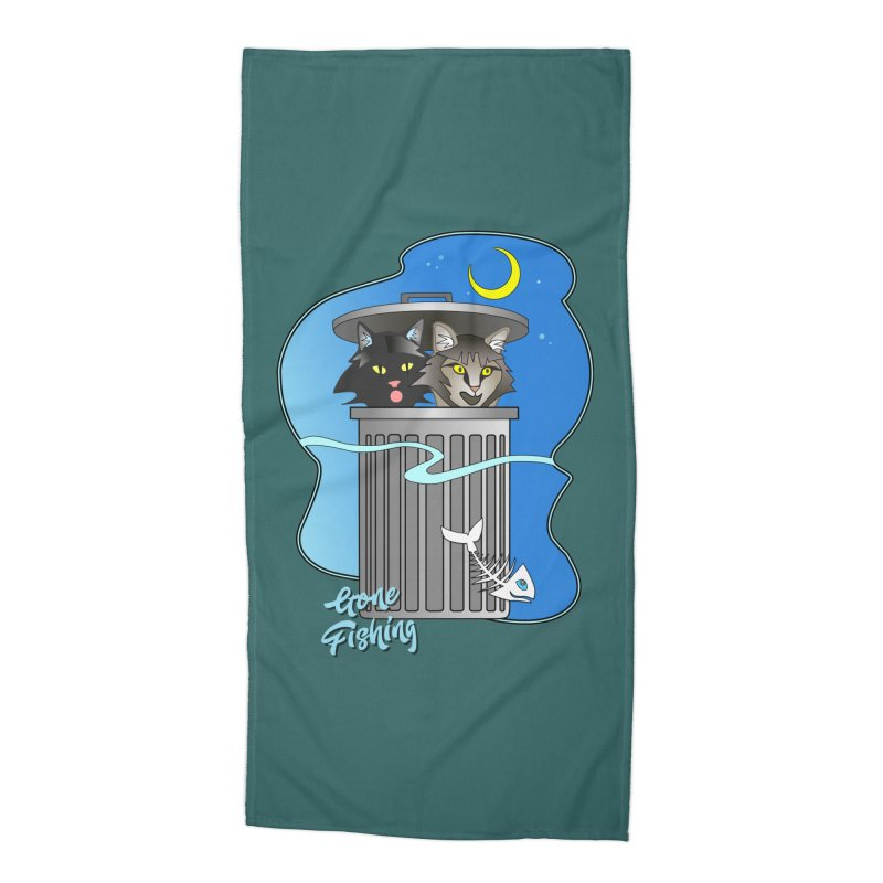 Gone Fishing Accessories Beach Towel by Patricia Howitt's Artist Shop