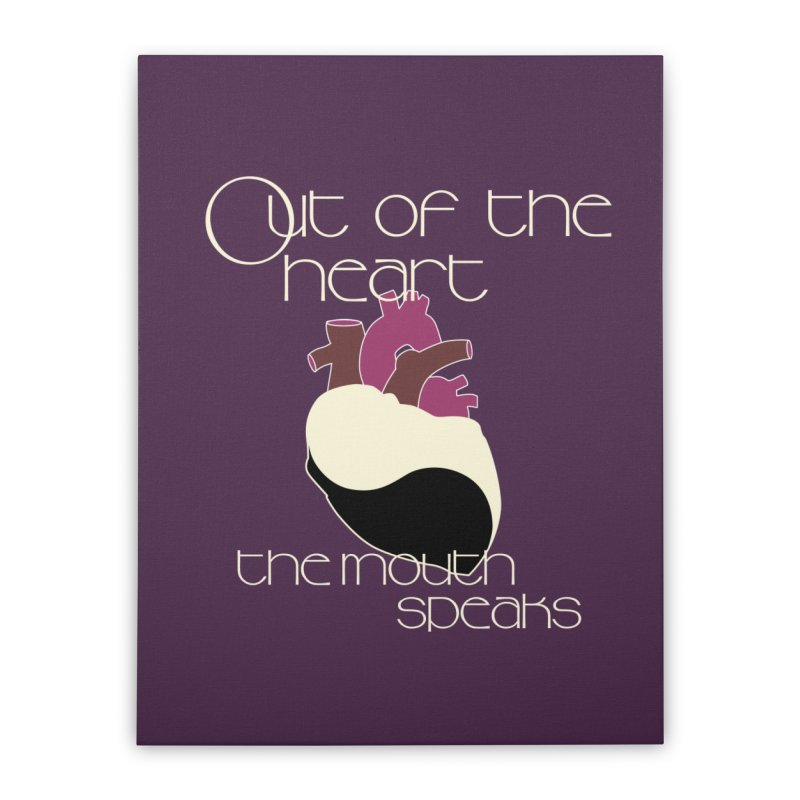 Out Of The Heart Home Stretched Canvas by Patricia Howitt's Artist Shop