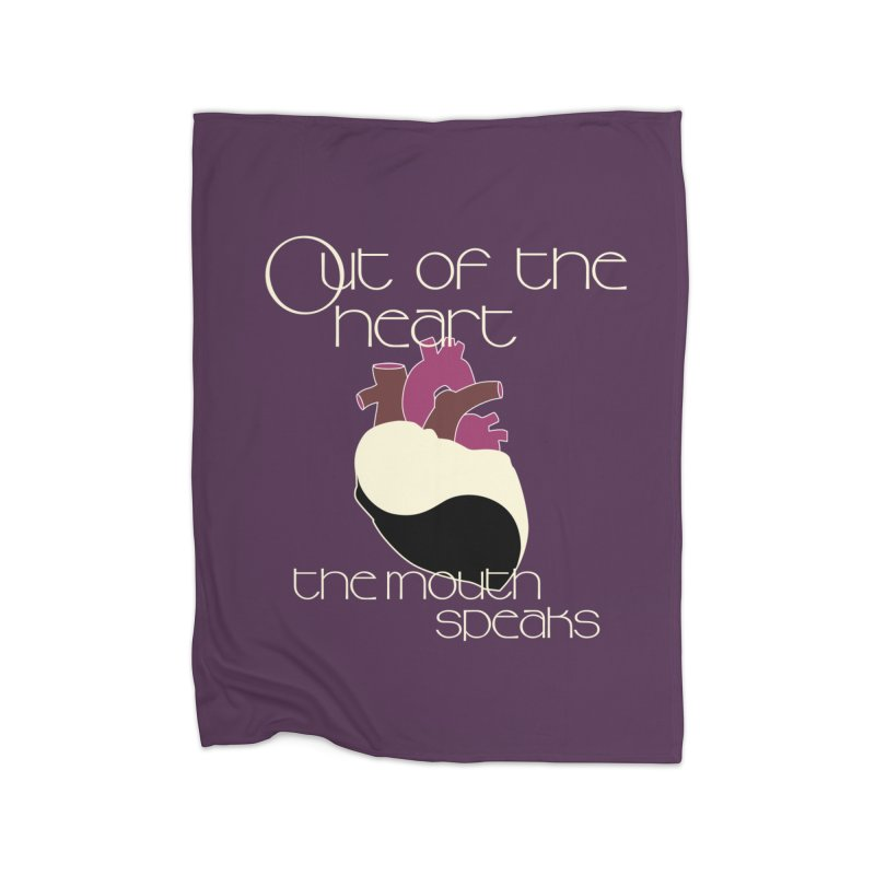 Out Of The Heart Home Fleece Blanket Blanket by Patricia Howitt's Artist Shop
