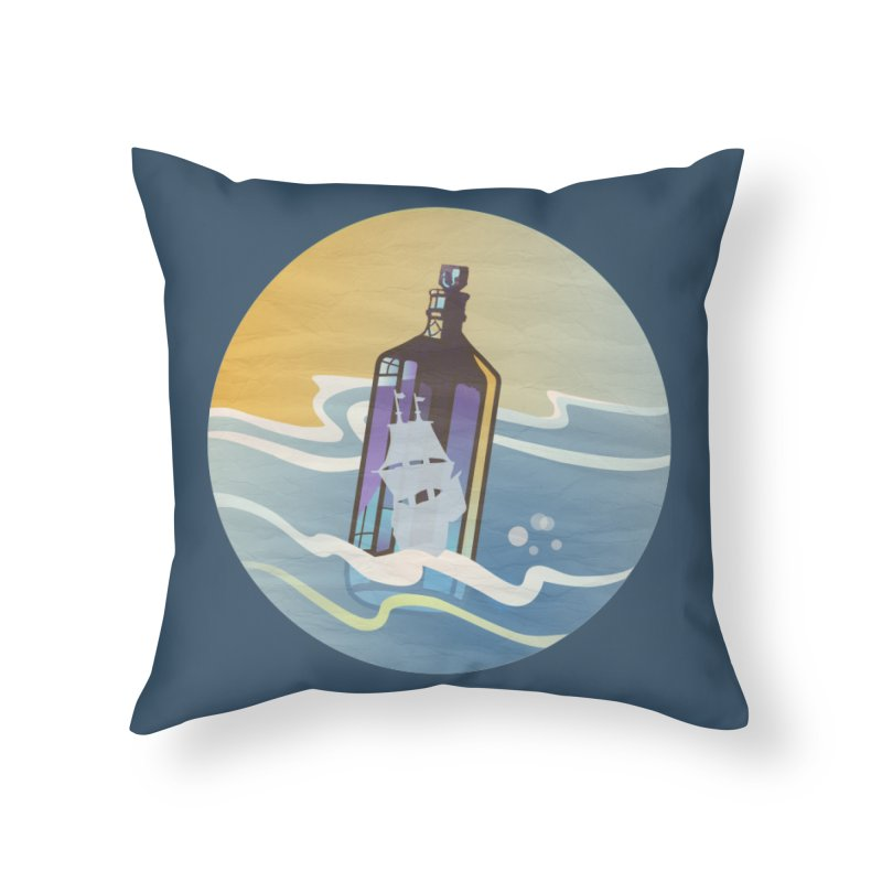 Ghost Ship Home Throw Pillow by Patricia Howitt's Artist Shop