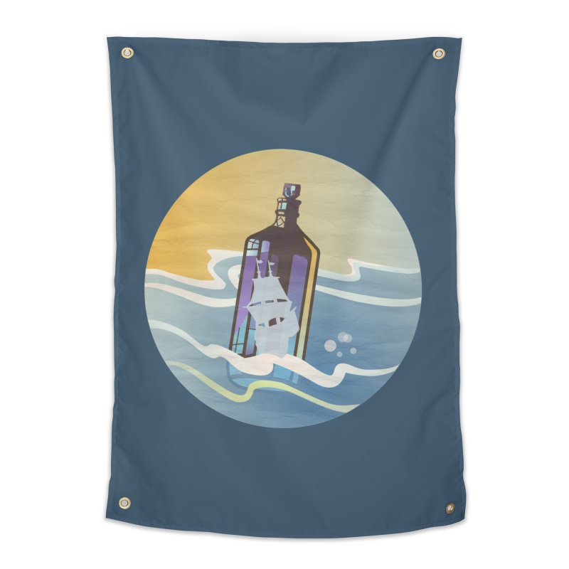 Ghost Ship Home Tapestry by Patricia Howitt's Artist Shop