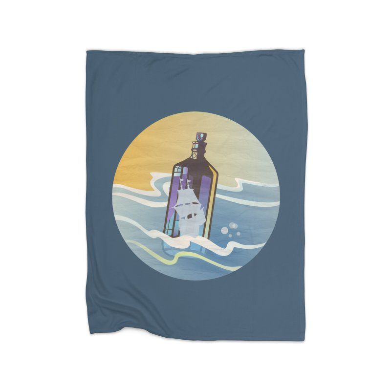 Ghost Ship Home Fleece Blanket Blanket by Patricia Howitt's Artist Shop